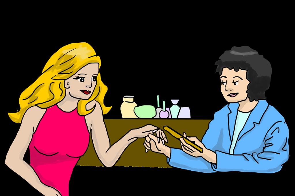 אישה עושה טיפול קוסמטי