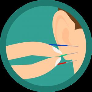 מחטים באוזן
